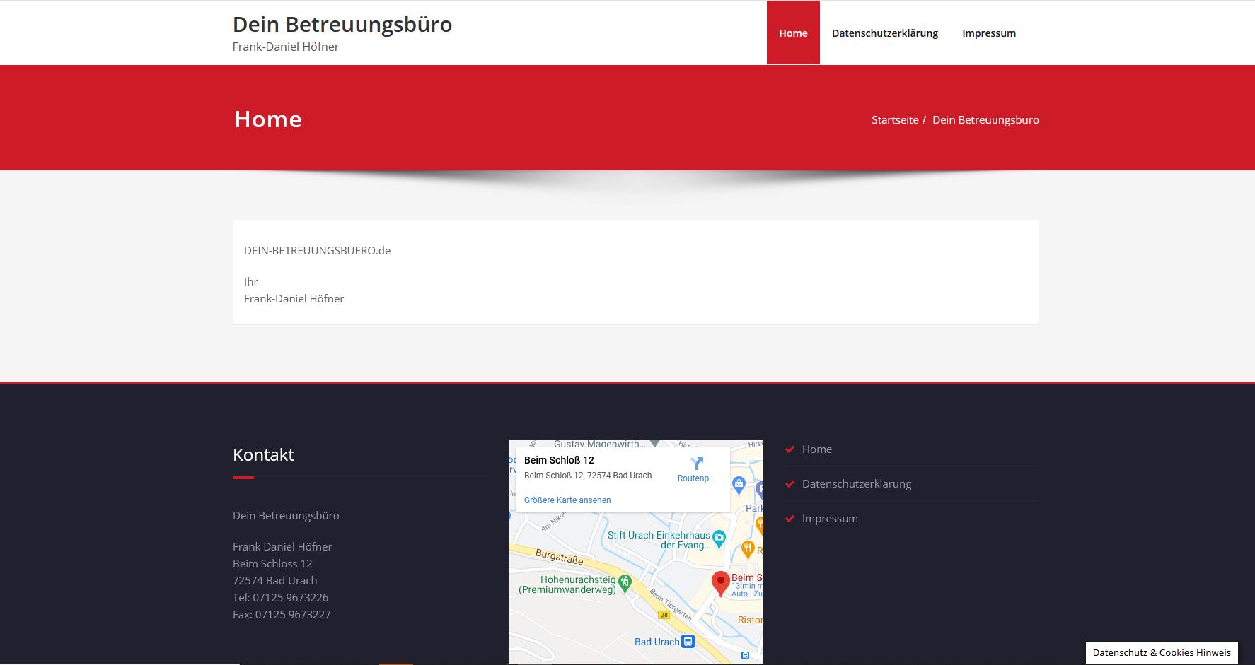 Kundenprojekt: Webseite