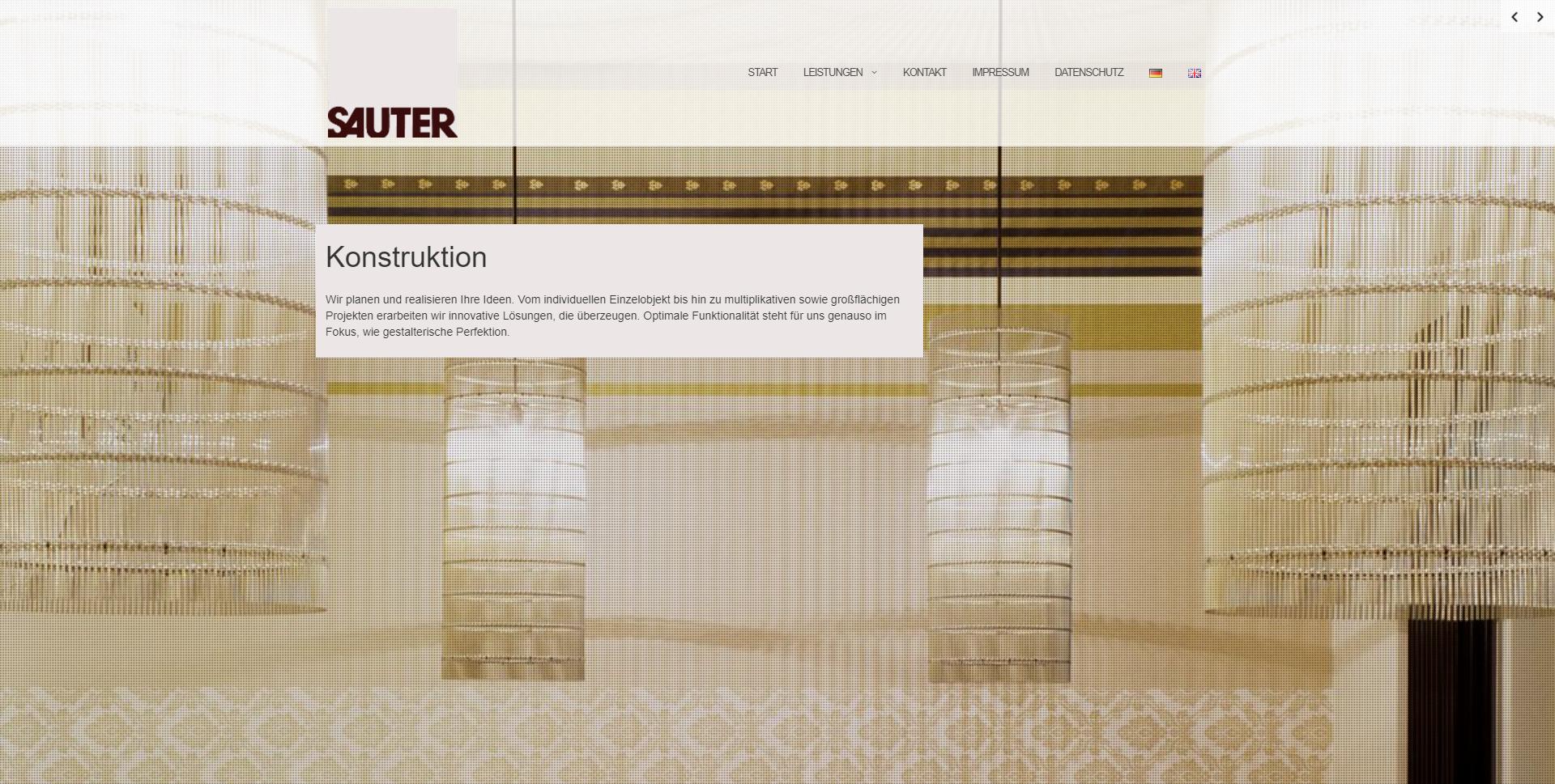 Modernisierung Webseite Ladenbau Sauter