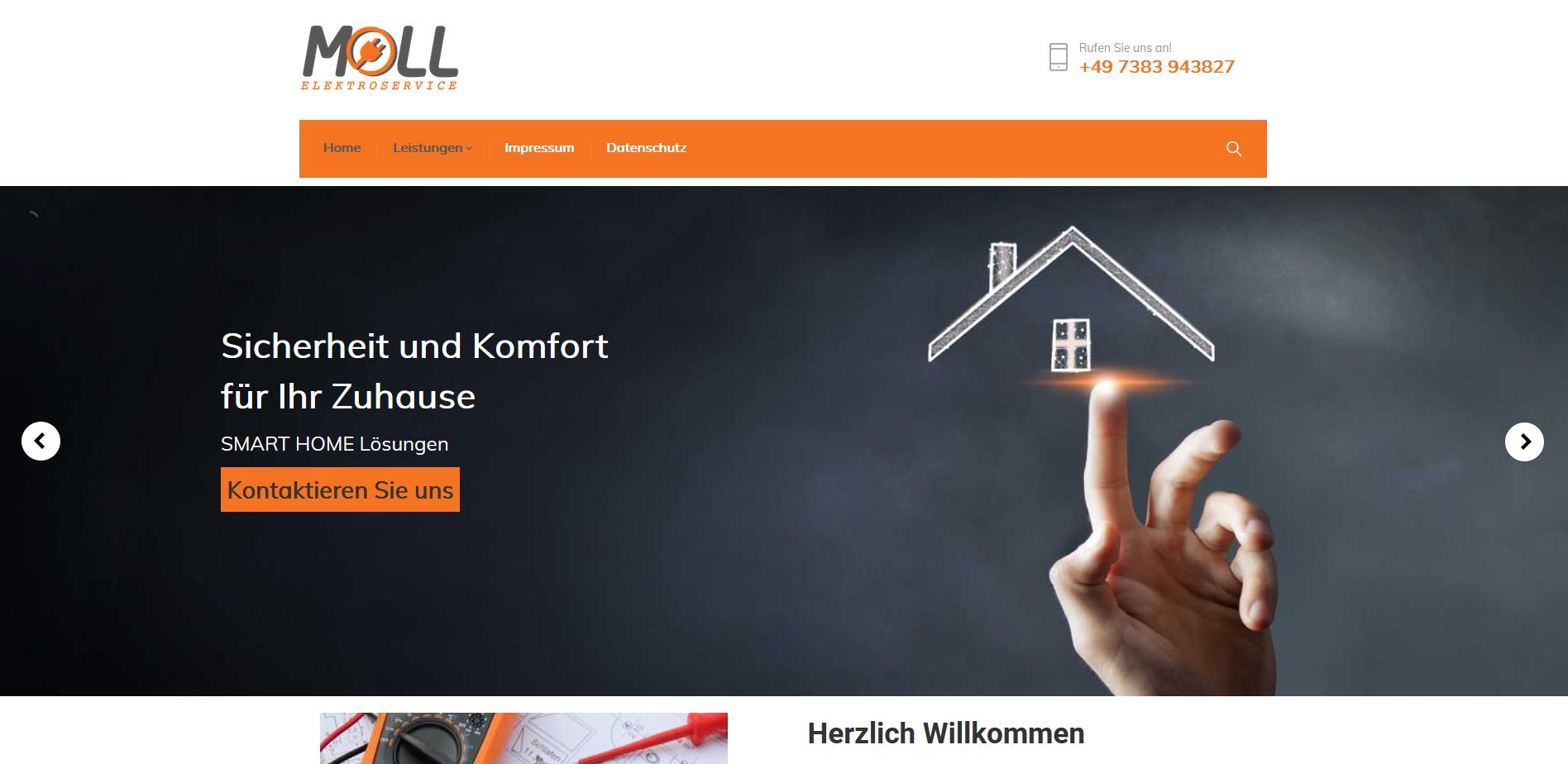 Fertigstellung Kundenprojekt MOLL ELEKTROSERVICE