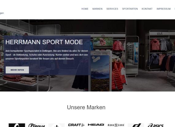 Neues Kundenprojekt Webseite Herrmann Sport Dettingen