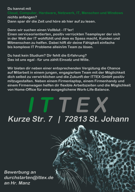 Werde Teil des ITTEX-Teams